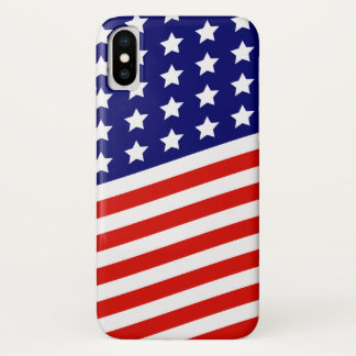 Stars and Stripes American Flag iPhone X Case