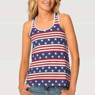 Stars and Stripes American Flag USA Patriotic Tank Top