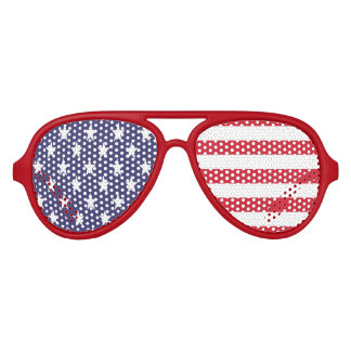 Stars And Stripes American USA Flag Aviator Sunglasses