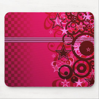 Stars and stripes and swirls mouse pad
