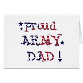 Stars and Stripes Army Dad Tshirts and Gifts Cards