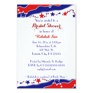 Stars and Stripes Bridal Shower Card