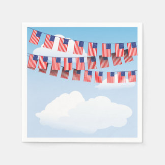 Stars And Stripes Bunting Paper Napkins