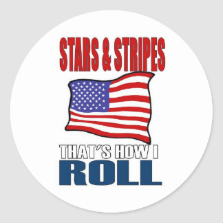 stars and stripes classic round sticker