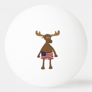 Stars and Stripes, Eh? Ping Pong Ball