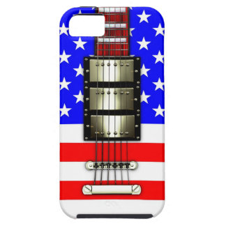 Stars and Stripes Electric Guitar iPhone 5 Covers