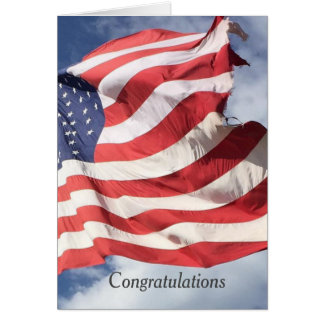 Stars and Stripes Flag Congratulations Greetings C Card