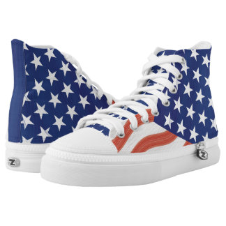 Stars and Stripes flag design High Tops
