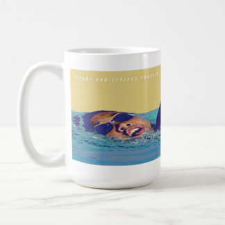 Stars and Stripes Freestyle Swimming Mug