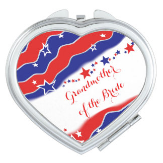 Stars and Stripes GRANDMOTHER OF THE BRIDE Travel Mirror