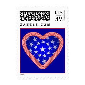 Stars and Stripes Heart Stamp