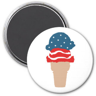 Stars and Stripes Ice Cream Cone Magnet