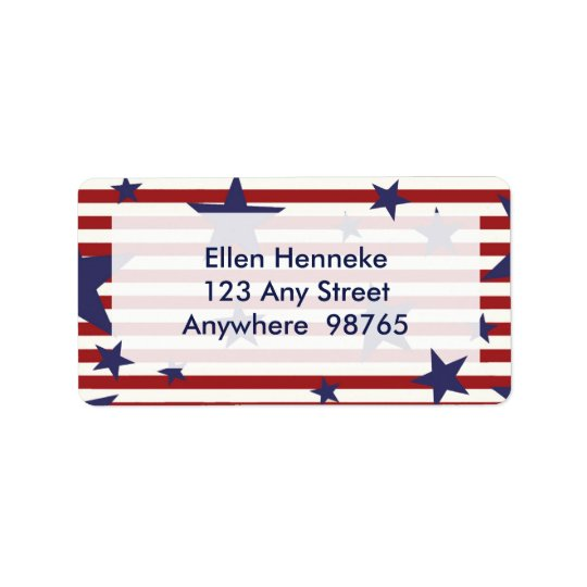 Stars and Stripes Label