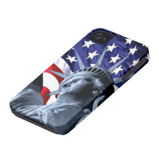 Stars and Stripes liberty iPhone 4 Case-Mate Case