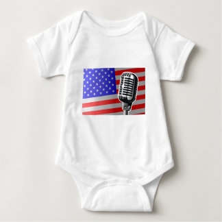Stars And Stripes Microphone Baby Bodysuit