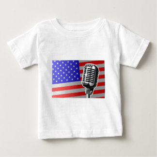 Stars And Stripes Microphone Baby T-Shirt