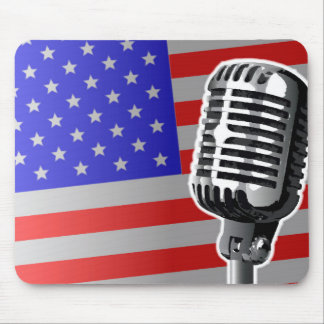 Stars And Stripes Microphone Mouse Pad
