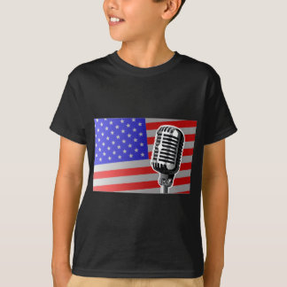 Stars And Stripes Microphone T-Shirt
