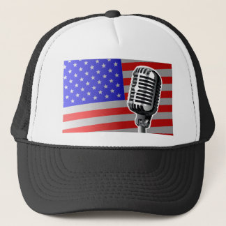 Stars And Stripes Microphone Trucker Hat