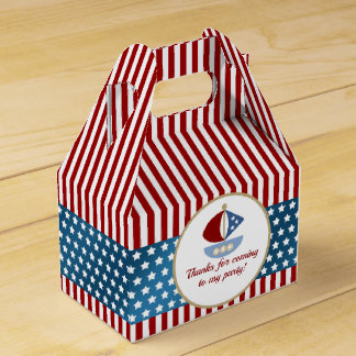 Stars and Stripes Nautical Birthday Party Favor Box