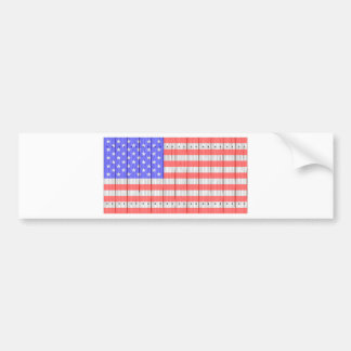 Stars And Stripes On A Fence Bumper Sticker