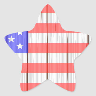 Stars And Stripes On A Fence Star Sticker