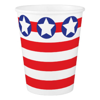 STARS AND STRIPES PAPER CUP