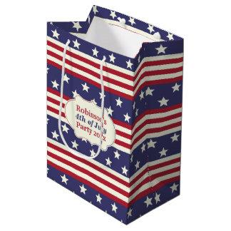 Stars and Stripes Patriotic American Flag | Custom Medium Gift Bag