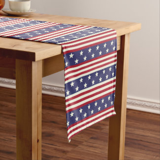 Stars and Stripes Patriotic Americana USA Flag Medium Table Runner