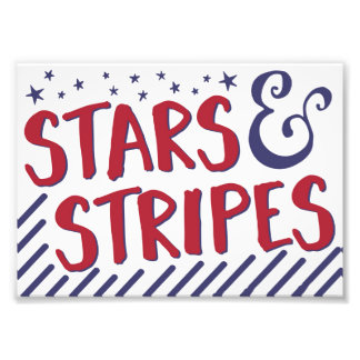 Stars and Stripes, Patriotic Decor, 4th of July Photo Print