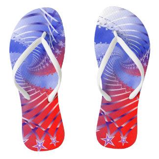 Stars and Stripes Patriotic Flip-flops Flip Flops