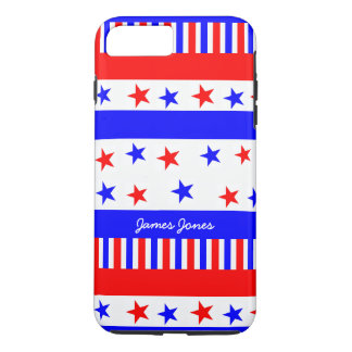 Stars and Stripes Pattern USA Flag Bright Colors iPhone 7 Plus Case