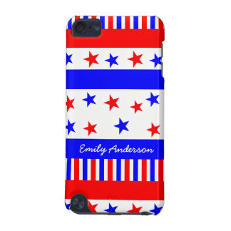 Stars and Stripes Pattern USA Flag Colors iPod Touch 5G Covers
