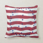 Stars and Stripes Peace Sign Flag Pillows