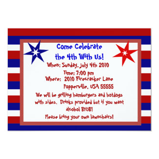Stars and Stripes Personalized Fourth of July Card