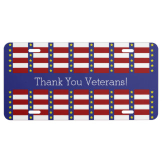 Stars and Stripes Personalized Patriotic License License Plate