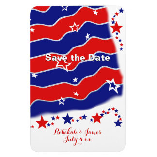 Stars and Stripes Personalized SAVE THE DATE Magnet