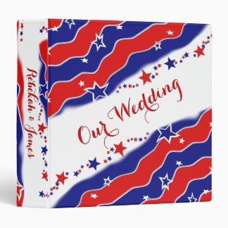 Stars and Stripes Personalized Vinyl Binders