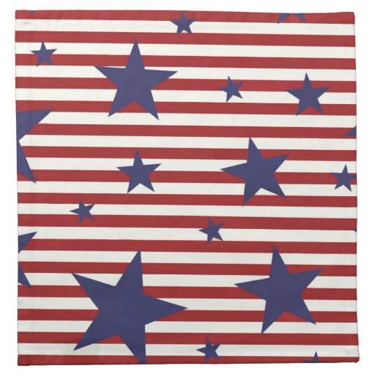 Stars and Stripes Printed Napkins