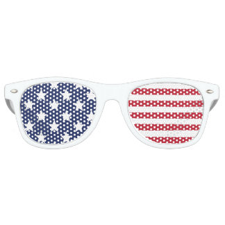 Stars and Stripes Red White and Blue Patriotic Sunglasses