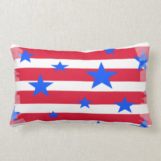 Stars and Stripes Travel Pillow Red White Blue USA