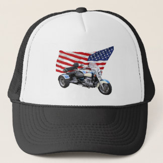 Stars and Stripes Trike Trucker Hat
