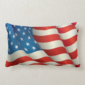 Stars and Stripes U.S. Flag Lumbar Pillow