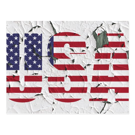 Stars and Stripes USA Distressed Style Postcard