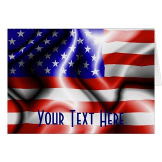 Stars and Stripes USA Flag  Card