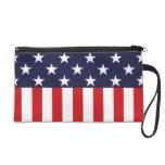 Stars and Stripes USA Flag Wristlet Purse