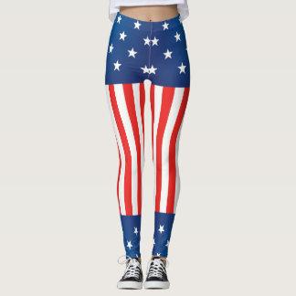 Stars and Stripes USA Leggings
