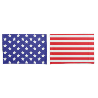Stars and Stripes USA Pillowcase Set