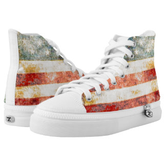 Stars and Stripes - Vintage American Flag High Tops