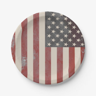 Stars and Stripes Vintage Americana Paper Plates